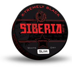 Siberia Slim Serie 80 Degrees Black White Dry 13g